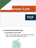 d. Persamaan Euler