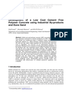 Development of a Low Cost Cement Free Polymer Concrete using Industrial By-products and Dune Sand