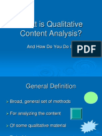 What is Qualitative Content Analysis
