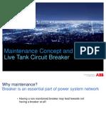 Maintenance Concept Live Tank Circuit Breaker ABB