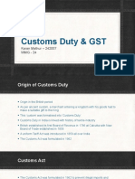 Customs Duty & GST