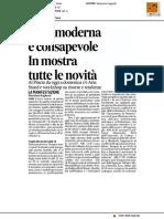 Casa moderna e consapevole, in mostra tutte le novità - Il Corriere Adriatico del 15 settembre 2017