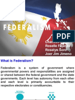 Report on Federalism