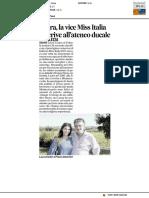 Lara, la vice Miss Italia si iscrive all'ateneo ducale - Il Corriere Adriatico del 16 settembre 2017