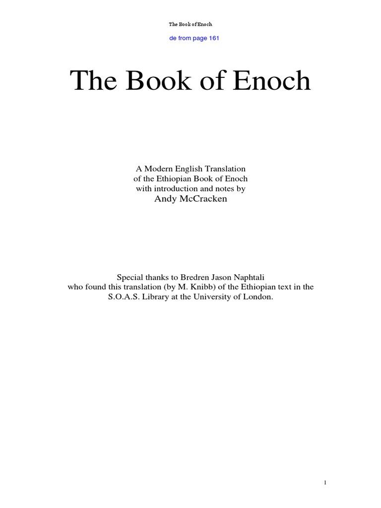 Book of Enoch   En+de   PDF   Book Of Enoch   Watcher Angel