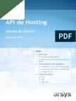 Manual de Usuario API Hosting