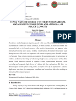 Sunny Ways or Somber Weather International Management Consultants and Appraisal of Policy Capacity