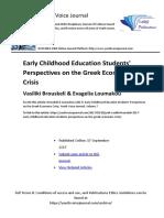 "Brouskeli & Loumakou (2017) ""Students Perspective on the Greek Economic Crisis"""