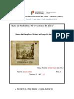 Terramoto de 1755 em Lisboa.docx