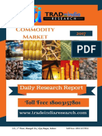 Daily Commodity Prediction Report by TradeIndia Research 18-09-2017