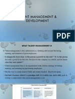 Talent Management & Development PPT SLIDES