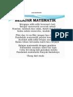Lagu Matematik