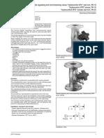 Datový List - Smyčkové Regulační Ventily - Přírubové