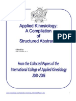 Applied Kinesiology Collected Papers 2001-2006