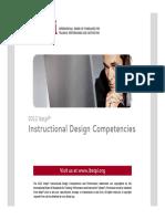 2012 Ibstpi Instructional Design Competencies