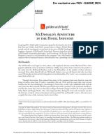 McDonald's Adventure in the Hotel Industry
