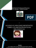 Aclaraciones Importantes Sobre La Elaboración de Fichas Bibliográficas