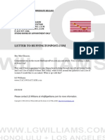 Letter To HuffingtonPost.com