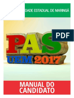 Manual Do Candidato - Pas 2017