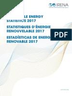 IRENA Renewable Energy Statistics 2017
