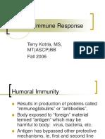 Dynamic of Antibody