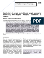 Application of certain bacterial and fungal species for controlling Meloidogyne incognita parameters in cowpea