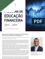 Programa Educacao Financeira 2017 2019