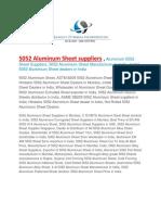 5052 Aluminum Sheet Suppliers