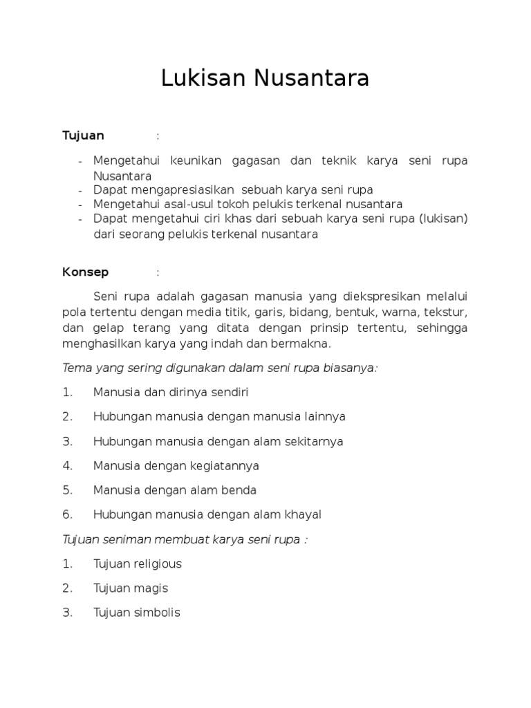 Lukisan Nusantara