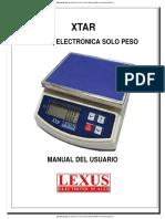Balanzas Digitales de Precision Xtar 1000 Lexus Manual Espanol