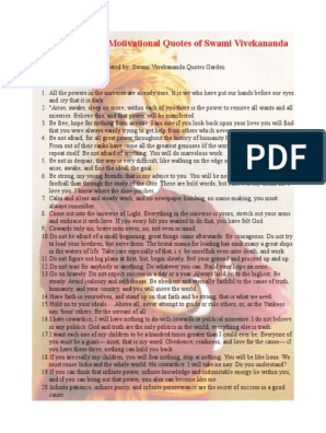 50 Inspiring and Motivational Quotes of Swami Vivekananda pdf