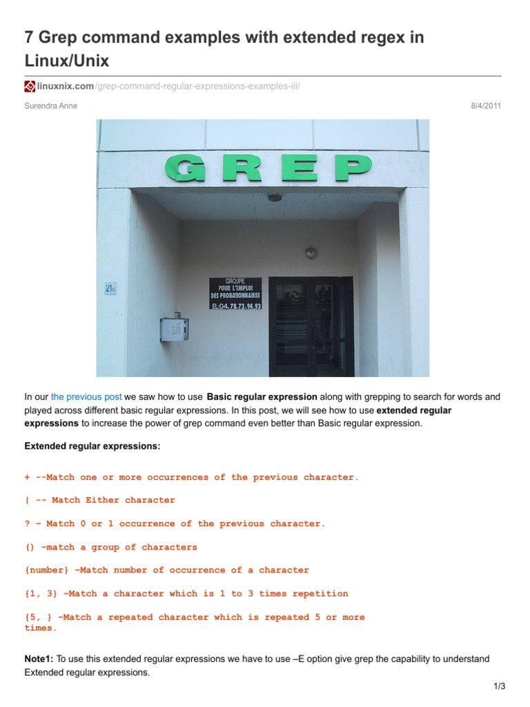 7 grep command examples with extended regex in linuxunix regular 7 grep command examples with extended regex in linuxunix regular expression unix baditri Images