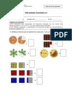 Evaluación Fracciones Impropias y Mixtas 5to