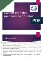 Cancer en Menores de 15 Años