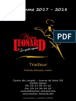 Catalogue 2017-2018 Maison Léonard