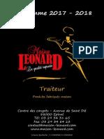 Catalogue 2017-2018 Maison Léonard