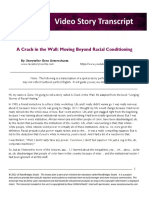 A Crack in the Wall Moving Beyond Racial Conditioning