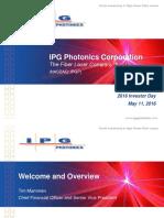 Ipg 2016 Investor Day Presentation