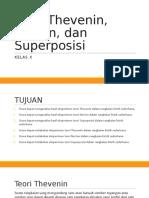 PPT Teori Thevenin, Norton, Dan Superposisi