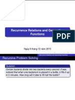 Recurrence Relations and Generating Functions - GDLC