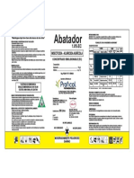 Etiqueta ABATADOR - 200L - Con Logo Helm Aprobada Por Senasa