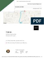 Gmail - Tu Viaje Del Miércoles Por La Noche Con Uber