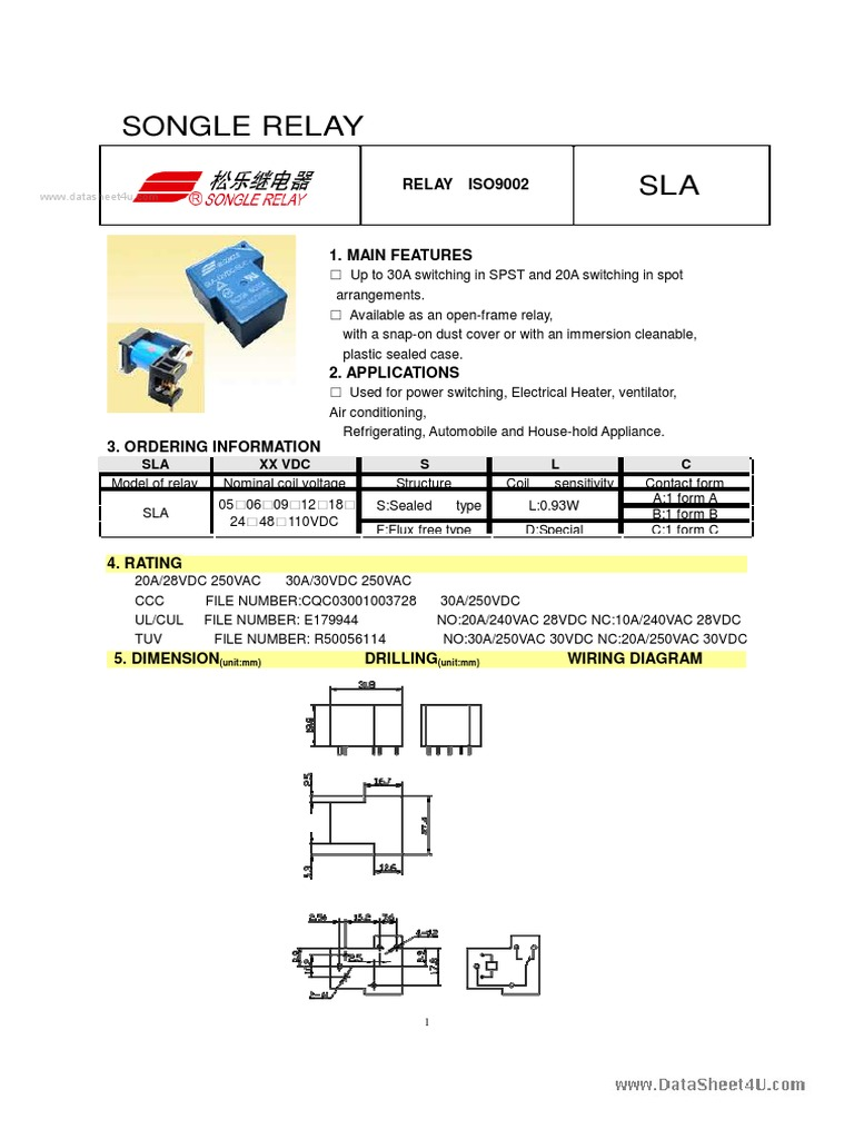 Ccc Wiring Diagram Sla 24vdc S L A Songle Relay Summer Olympics Sports