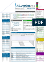 Blueprint CSS framework version 0.7.2 cheat sheet