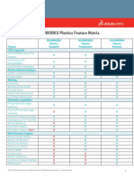 160618 SOLIDWORKS Plastics 2015 Feature Matrix ENG