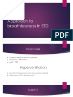 Approach to Breathlessness in ETD