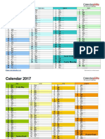 Calender Planner 2017 New(to Be Edited)