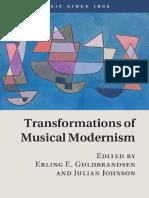 Transformations of Musical Modernism - E. E. Guldbrandsen, J. Johnson (Eds.) (2016)