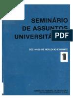 SEMINÁRIO DE ASSUNTOS UNIVERSITÁRIOS