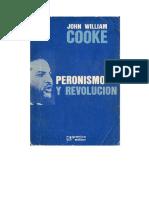 Cooke Peronismo y Revolucion